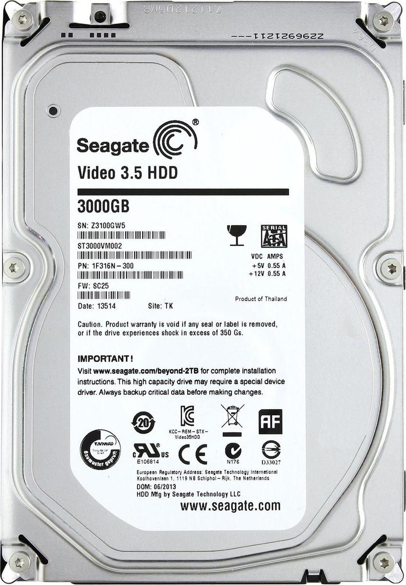 Внутренний жесткий диск Seagate Video 3.5 HDD, 3 ТБ