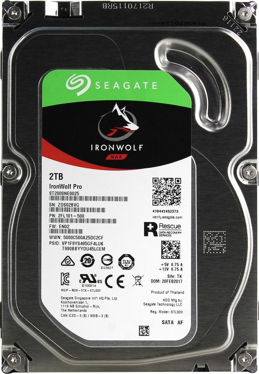 Внутренний жесткий диск Seagate IronWolf Pro, 2 ТБ жесткий диск samsung 320g 2 5 sata hm320hj 7200 16m