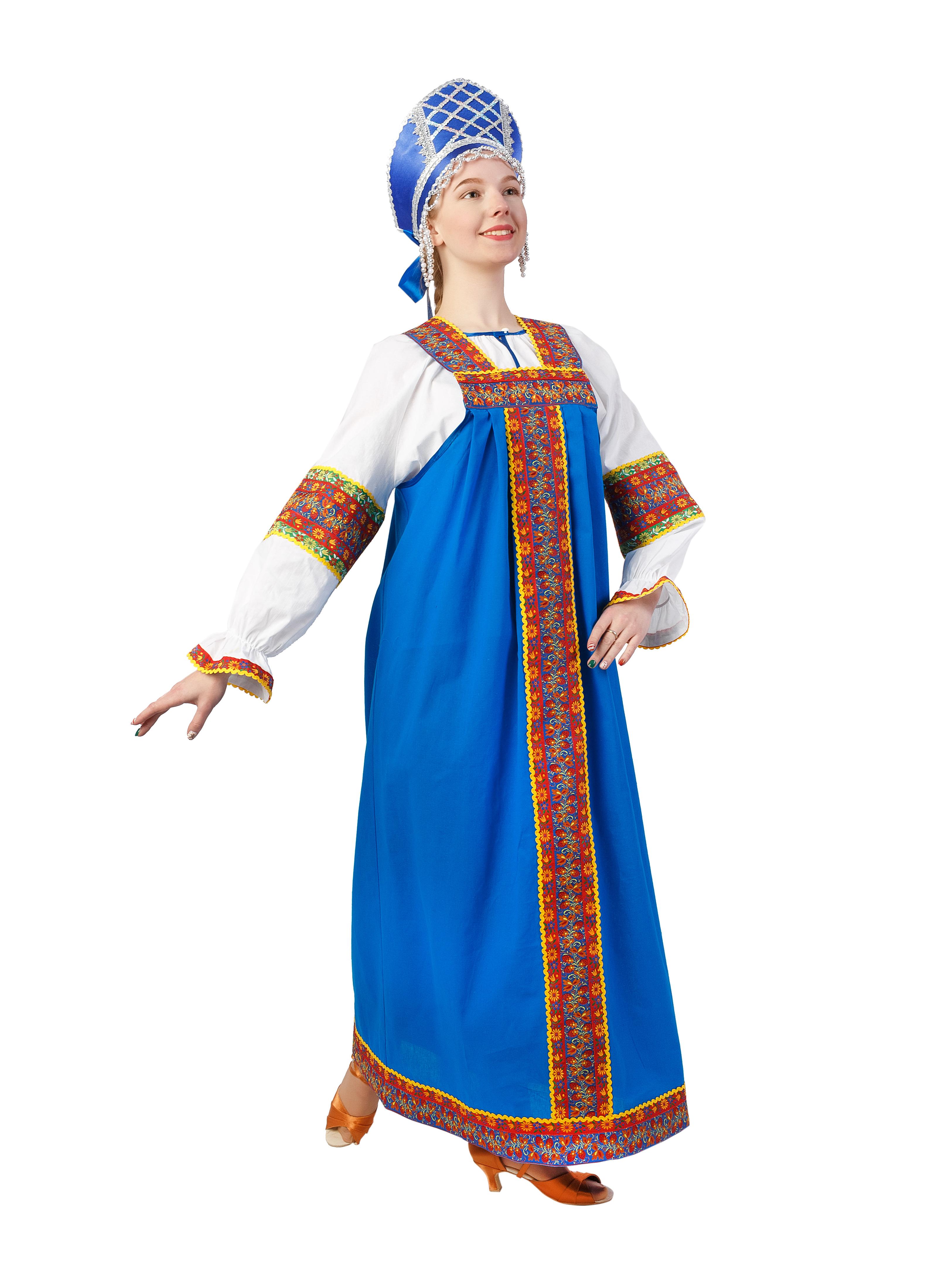 Карнавальный костюм Gala-Вальс Русский народный костюм Маша, синий н и решетников русский народный календарь