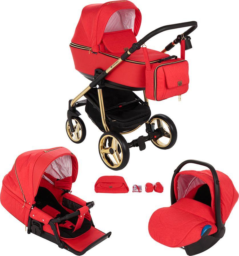 Коляска универсальная Adamex Reggio Special Edition 3 в 1, Y832, красный недорого