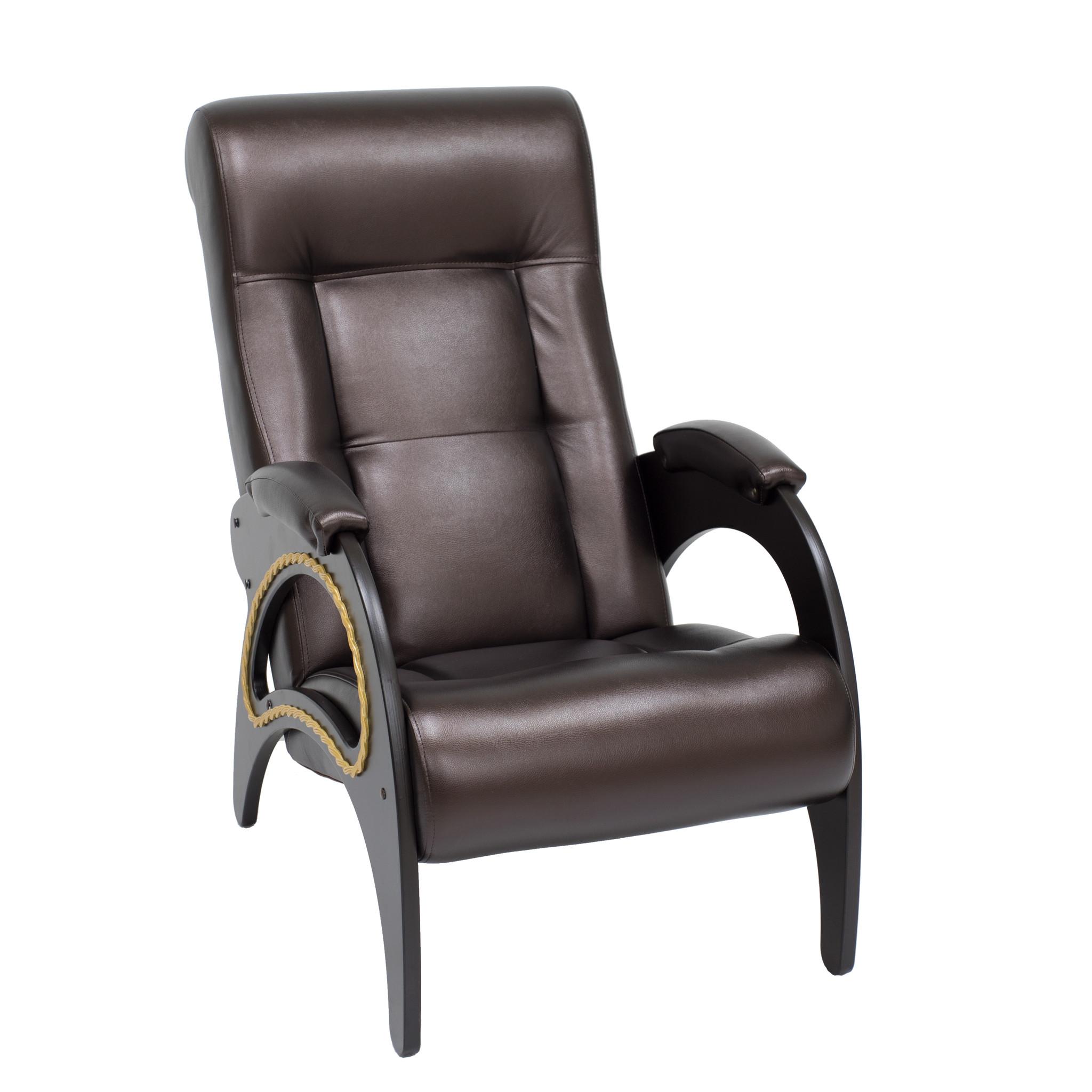 Кресло Комфорт model-41m41-venge-oregon120Удобное и элегантное кресло для отдыха. Анатомическая форма сиденья и спинки, а так же оптимальный угол ее наклона обеспечивают максимальный комфорт во время отдыха. Благодаря стильным тонким подлокотникам, отделанным лозой, кресло довольно компактно, но в то же время имеет широкое комфортное сиденье. Каркас изготовлен из дерева на высокотехнологичном оборудовании. Кресло выпускается в нескольких вариантах обивки – ткань и экокожа.