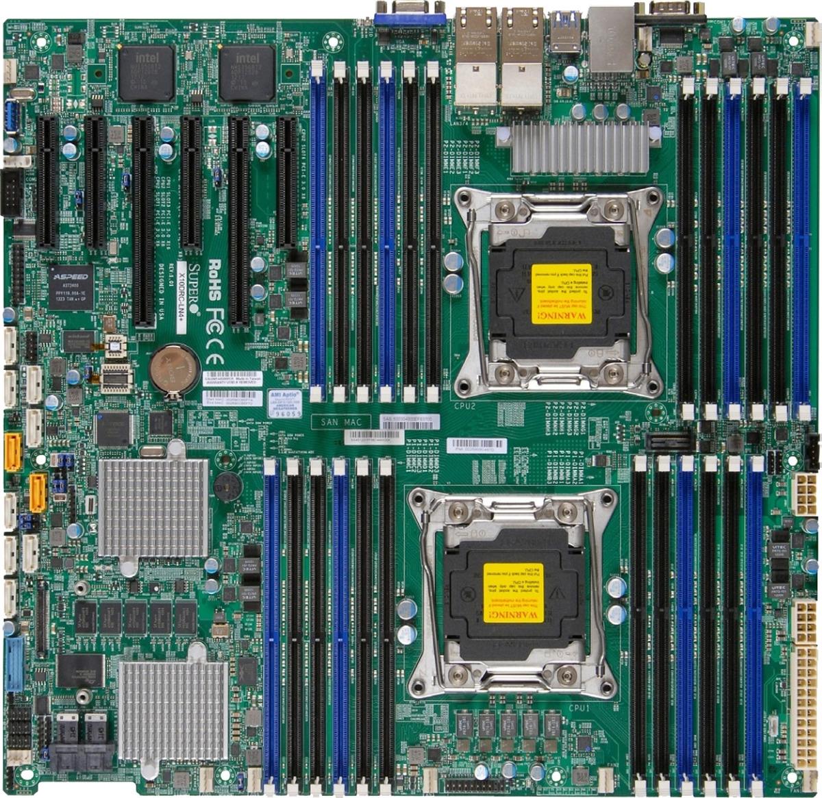 лучшая цена Материнская Плата SuperMicro MBD-X10DRI-LN4+-O