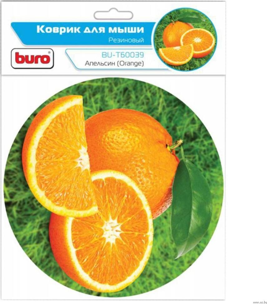 Коврик Buro BU-T60039 для мыши, рисунок/апельсин