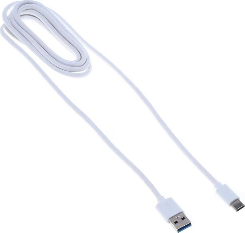 Кабель Buro BHP, 1,8 м, белый кабель buro bhp lightning 0 8 lightning m usb a m 0 8м черный
