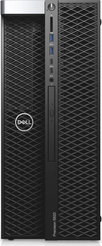 Системный блок Dell Precision T7820, 7820-2776, черный компьютер dell precision t7820 silver 2x4110 32gb 2000gb hdd 256gb ssd win10pro 7820 2769