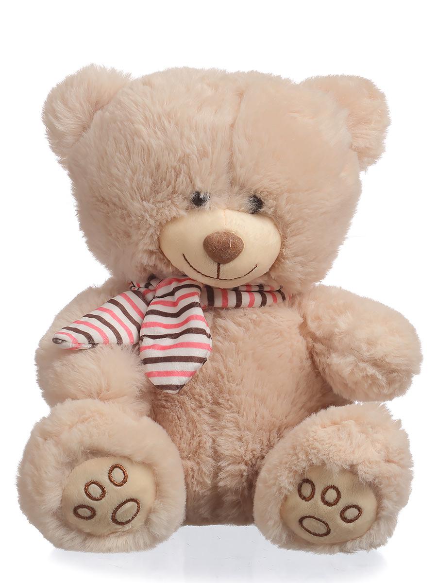 Мягкая игрушка TOY and JOY Медведь в шарфе 6-0064-25 joy toy joy toy игрушечная железная дорога joy toy молния