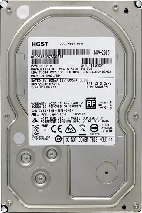 Внутренний жесткий диск HGST Ultrastar 7K6000, 2 ТБ hgst 7k6000