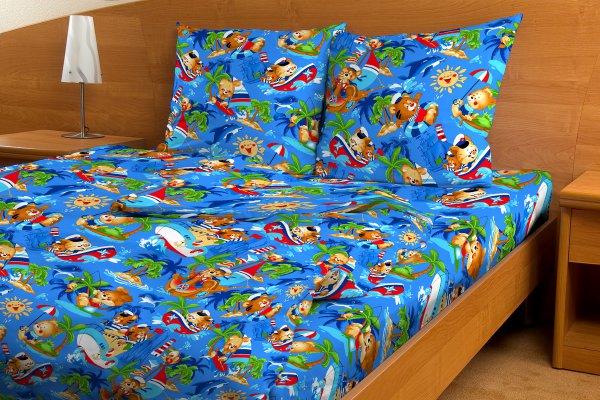 Комплект белья для новорожденных Текстильная лавка По морям по волнам игрушки для новорожденных по месяцам фото