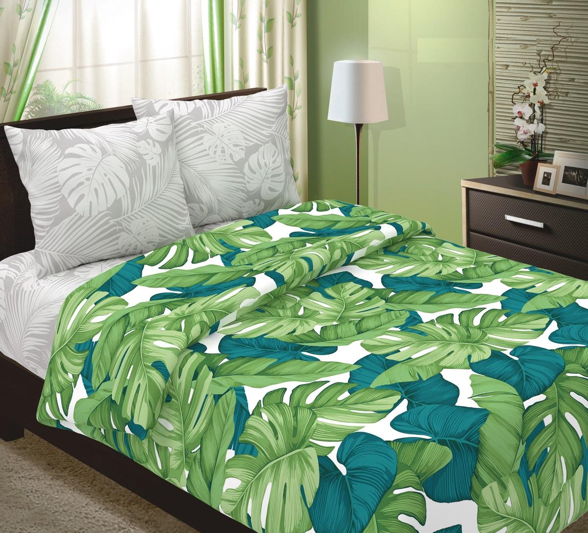 Комплект постельного белья ТК Традиция Традиция, для сна и отдыха, зеленый