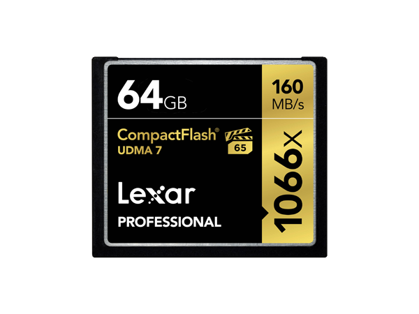 Карта памяти Lexar Compact Flash 64GB (1066x)