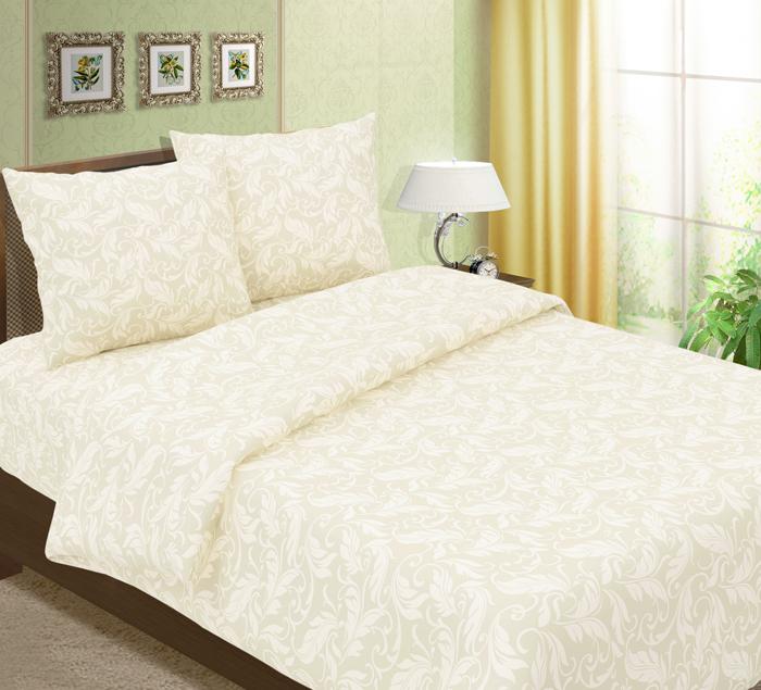 Комплект постельного белья ТК Традиция Традиция, для сна и отдыха, бежевый