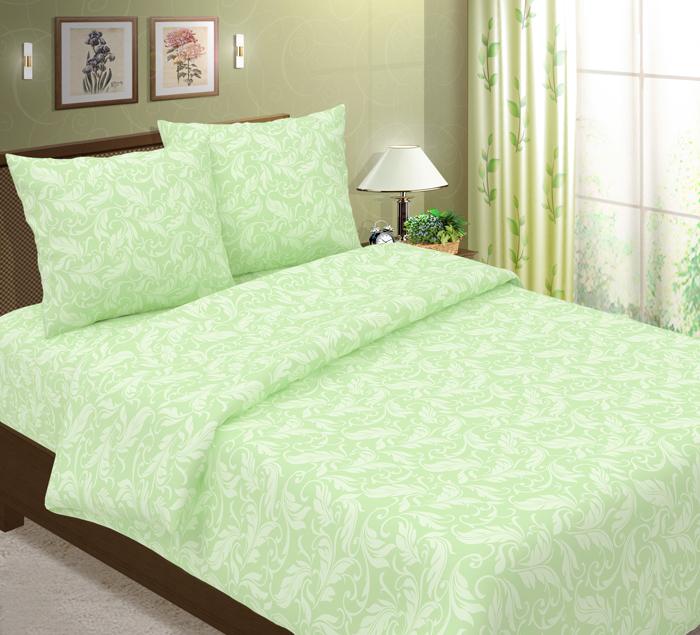 Комплект постельного белья ТК Традиция Традиция, для сна и отдыха, салатовый