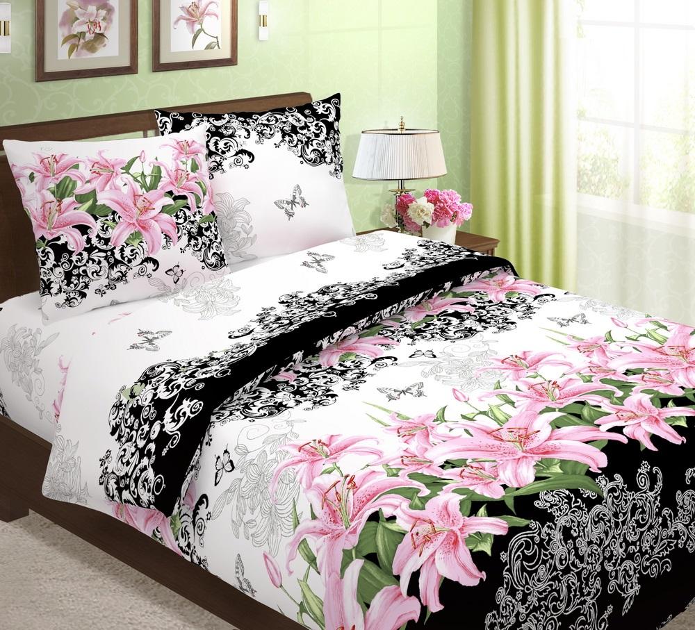 Комплект постельного белья ТК Традиция Традиция, для сна и отдыха, розовый