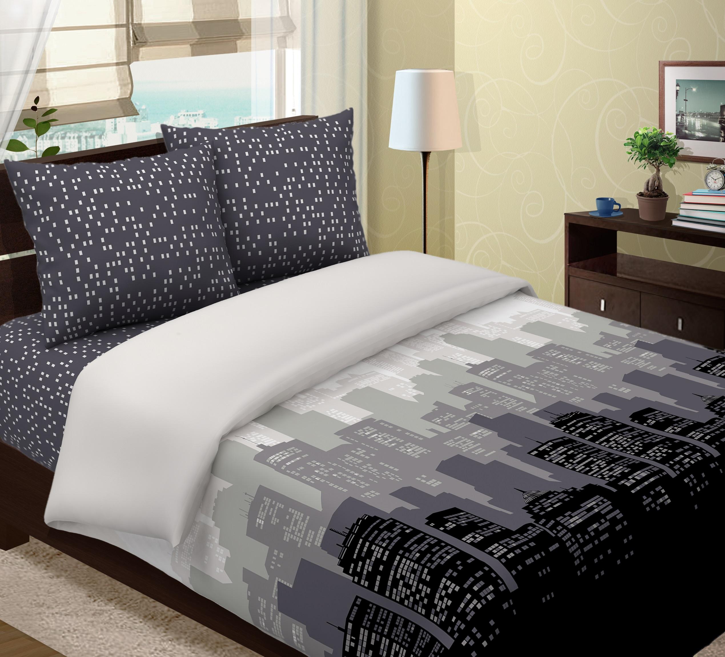 Комплект постельного белья ТК Традиция Традиция, для сна и отдыха, серый