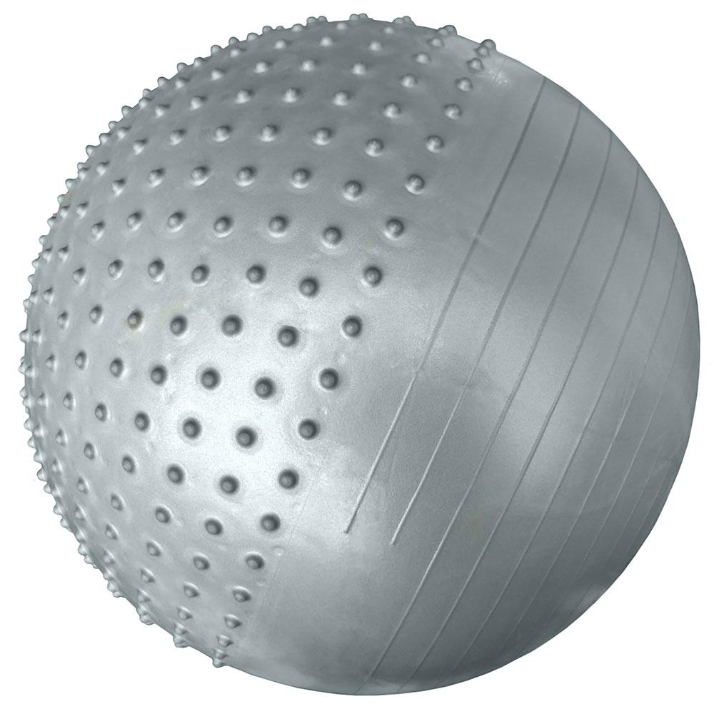 Мяч для фитнеса Hawk 1001475010014750Мяч гимнастический массажный 65 см (серебро) (вес 1200 гр.) Без насоса Упаковка: пакет