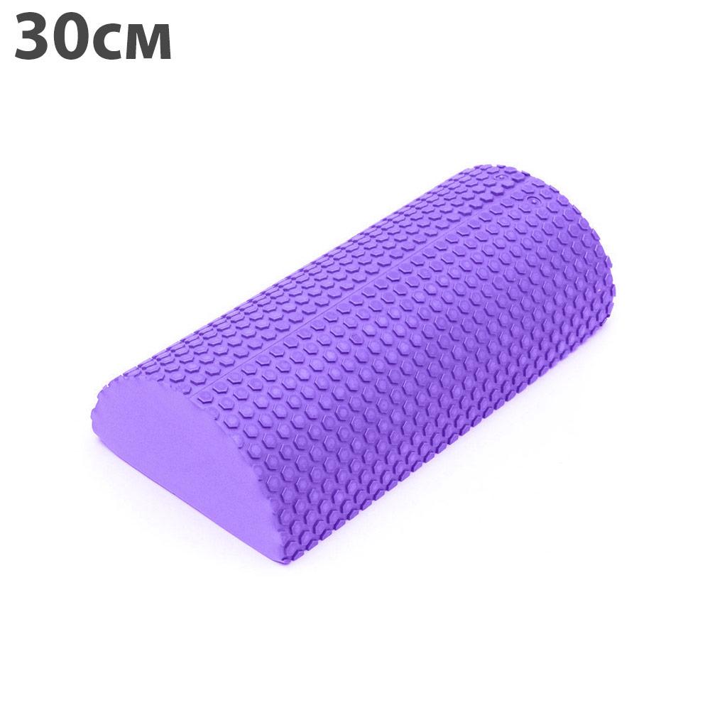 Ролик массажный Hawk 1001610610016106C28846-3 Ролик для йоги полукруг 30x15х7,5cm (фиолетовый) материал ЭВА