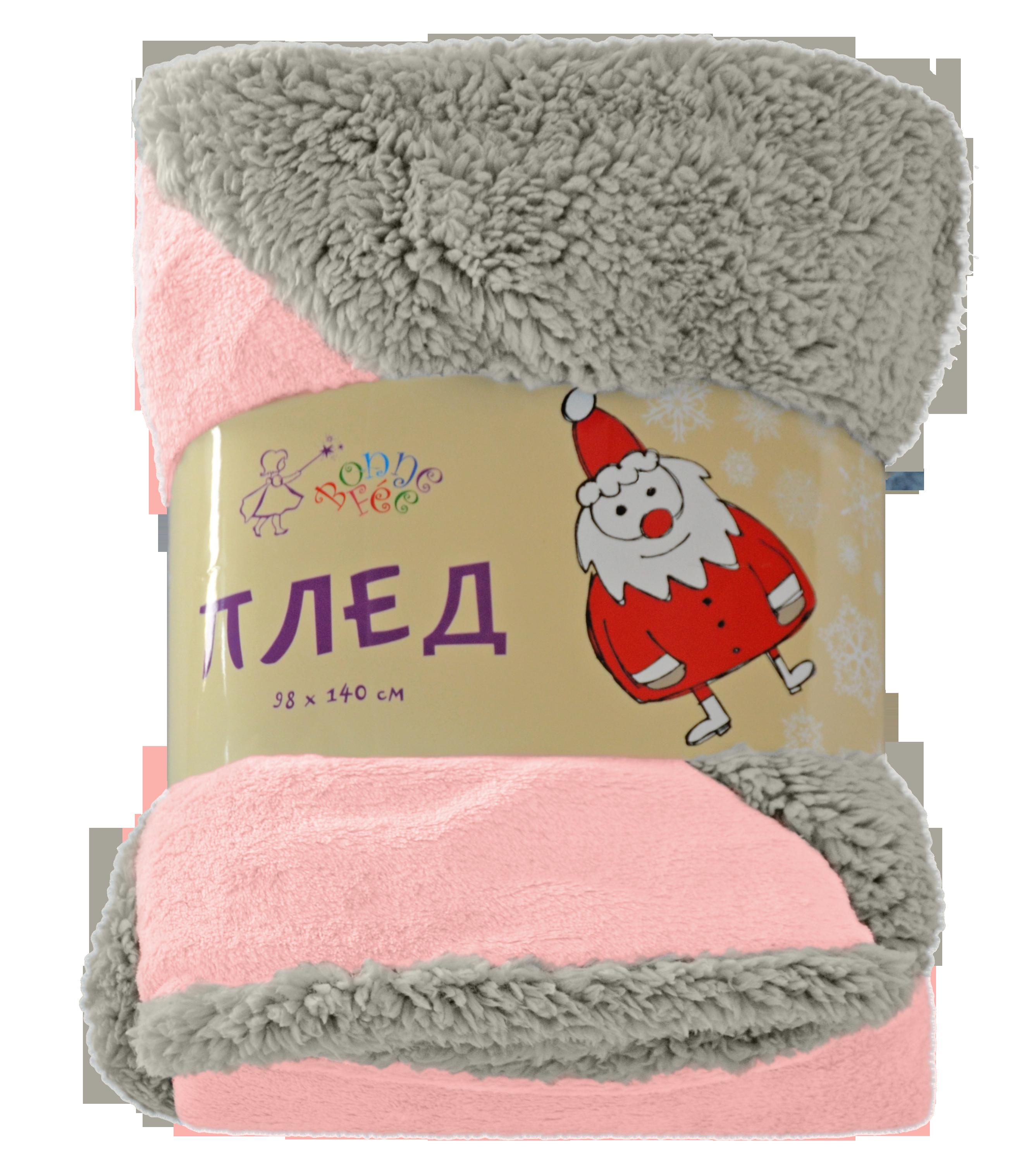 Плед для новорожденного Bonne Fee ПЛД2, розовый bonne fee простыня детская совы цвет розовый 70 х 100 см