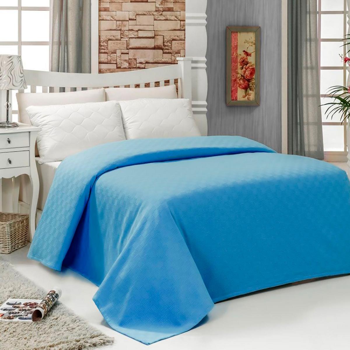 Покрывало Arya home collection Dama, голубой пике женский mk2573 03 голубой