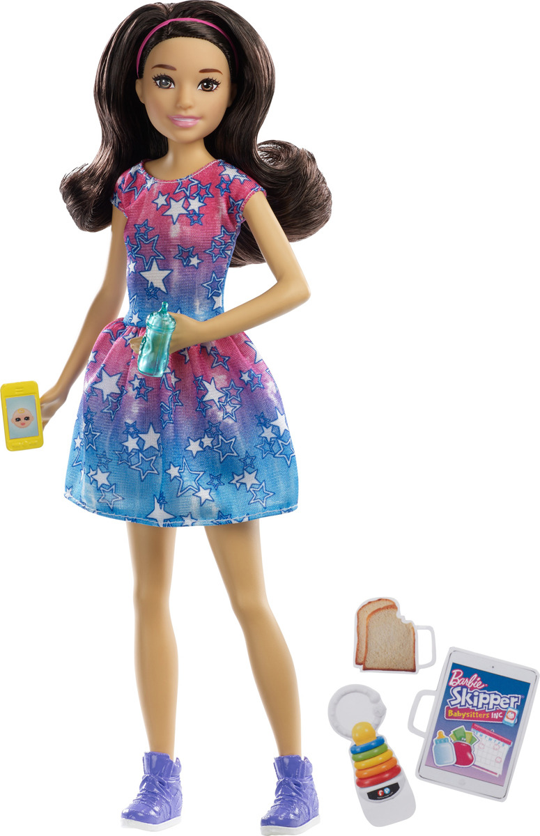 Barbie Кукла Няня FHY89_FHY93 цена и фото