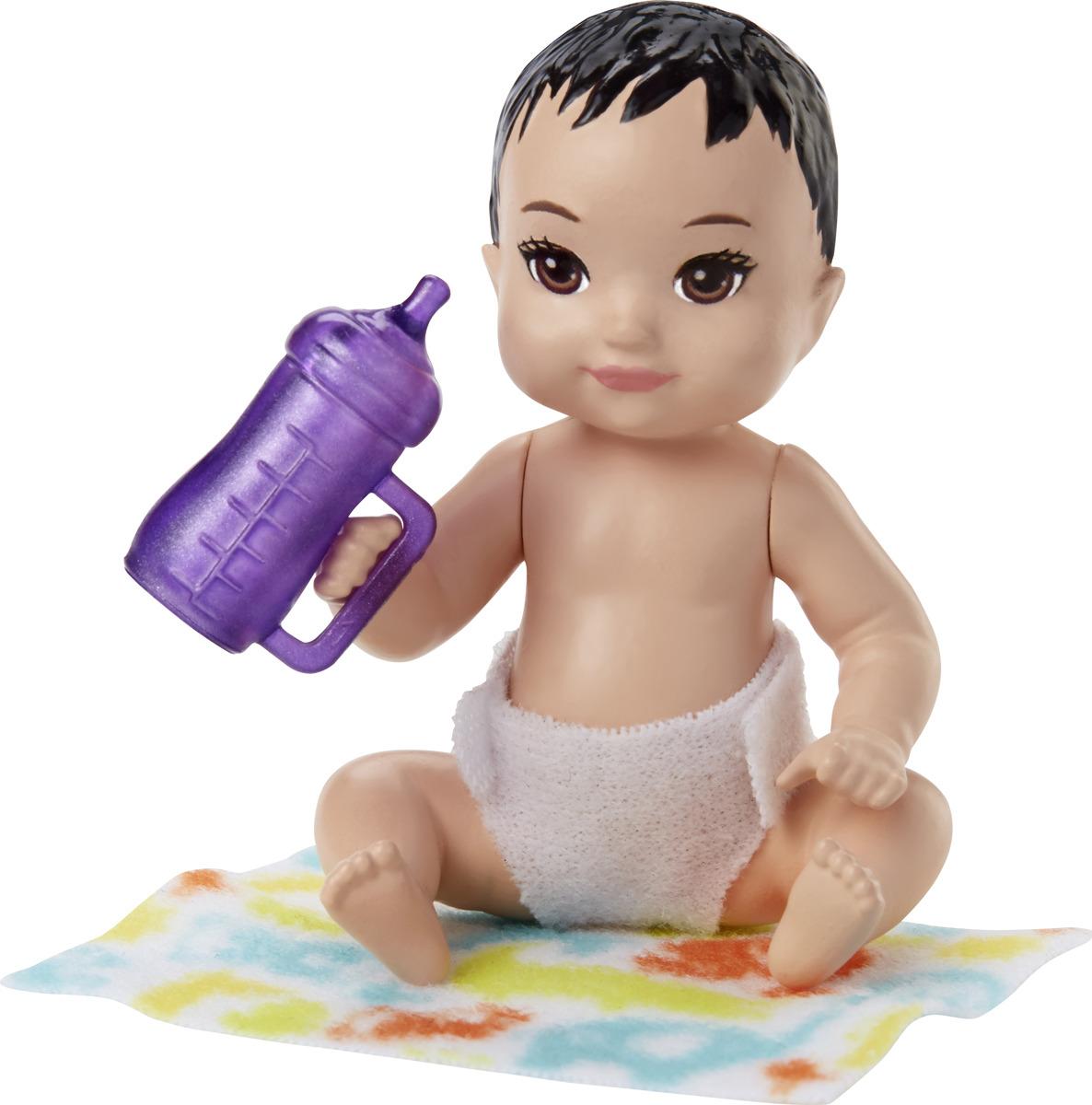 Barbie Игровой набор с куклой Ребенок с аксессуарами FHY76_FHY77