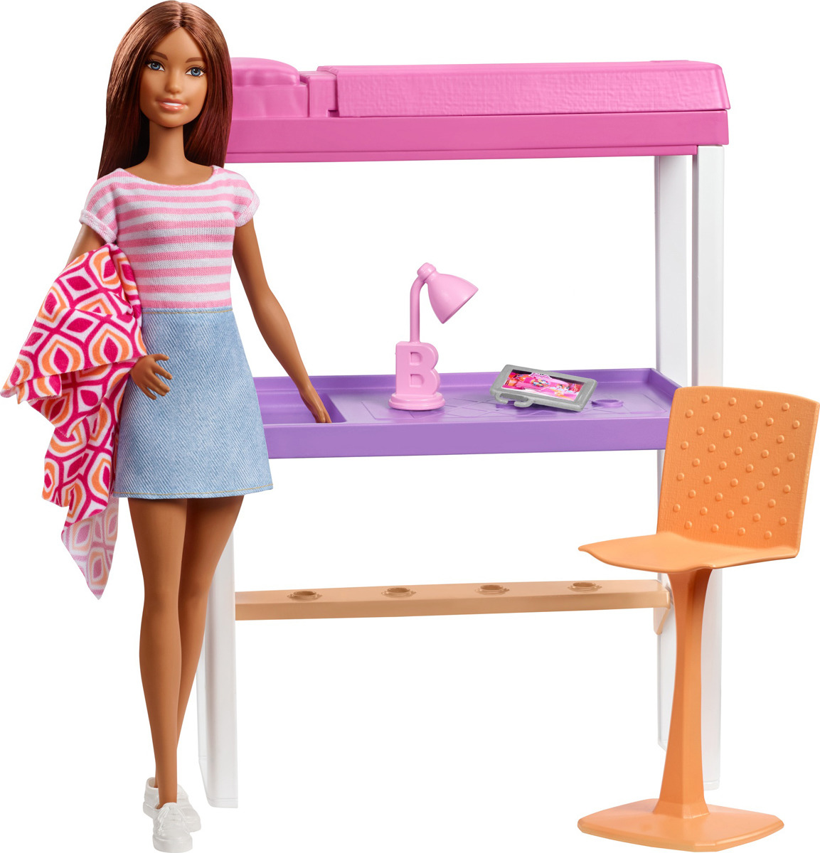 аксессуары для мебели Barbie Кукла с набором мебели комната