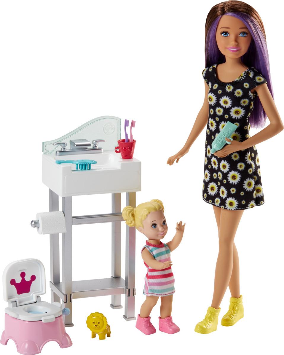 Barbie Игровой набор с куклой Няня FHY97_FJB01 цена и фото
