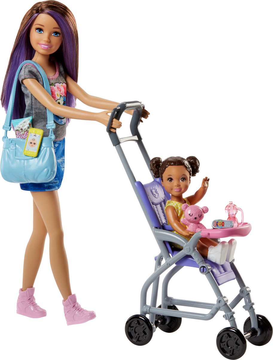 Barbie Игровой набор с куклой Няня FHY97_FJB00 цена и фото