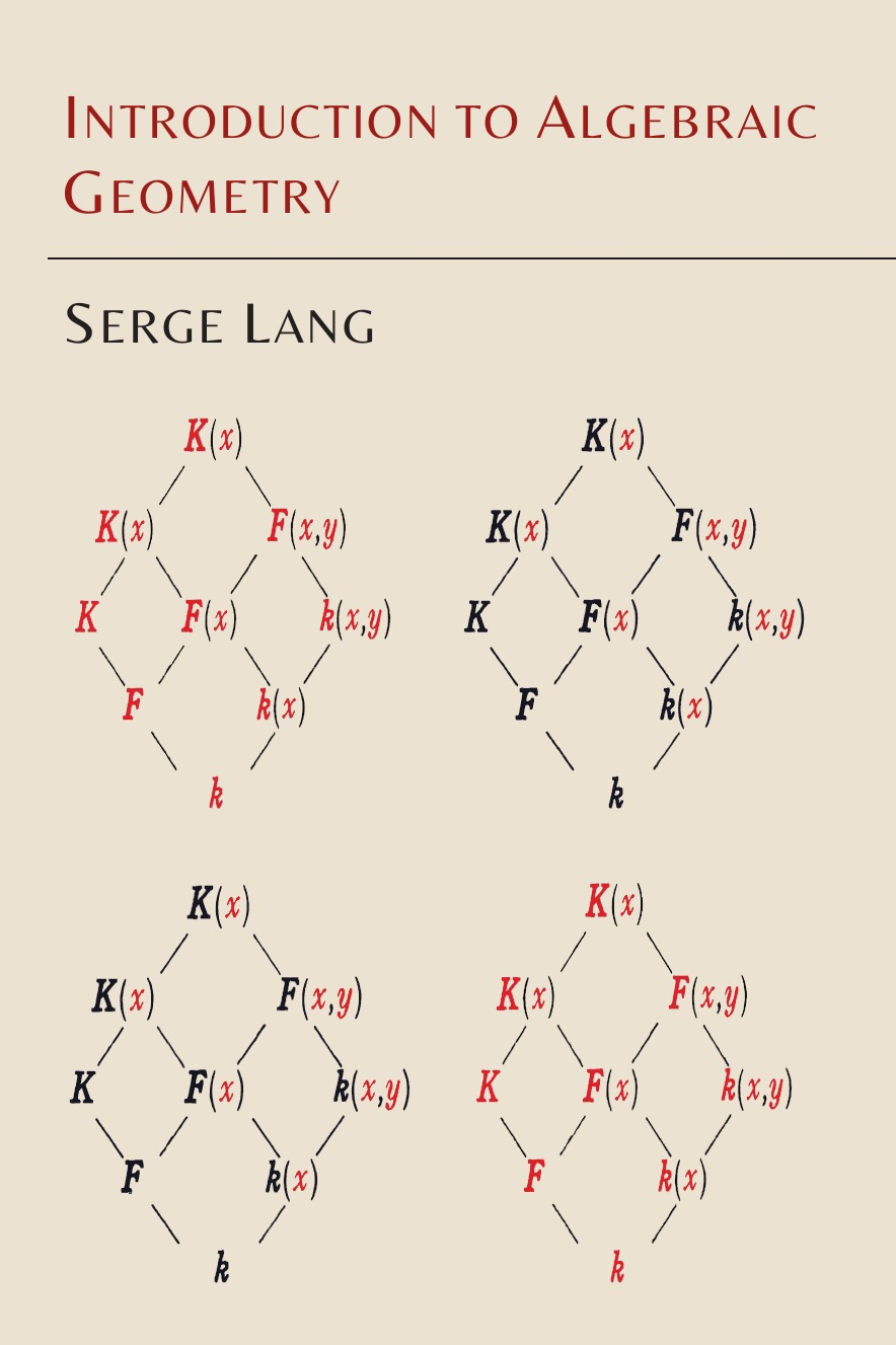 Serge Lang Introduction to Algebraic Geometry цена