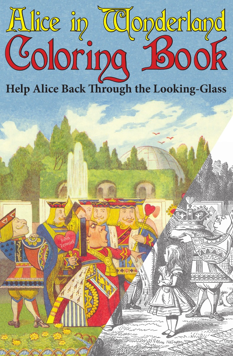 Lewis Carroll Alice in Wonderland Coloring Book. Help Alice Back Through the Looking-Glass (Abridged) (Engage Books) lewis carroll through the looking glass and what alice found there isbn 978 5 521 00156 9