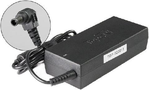 Зарядное устройство для ноутбука TOPON 19.5V -> 4.7A для ноутбука Sony Vaio VGN-SZ, VGN-FZ, CR, FS, FE, FJ, S3, S4, S5 Series VGP-AC19V10 (6.0x4.4mm с иглой) 90W, черный блока питания ноутбука