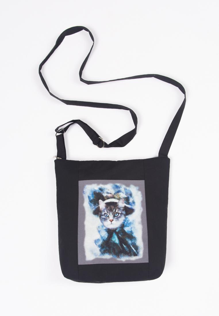 купить Сумка кросс-боди Lisa Boho BAG 181252 черный,голубой по цене 2100 рублей