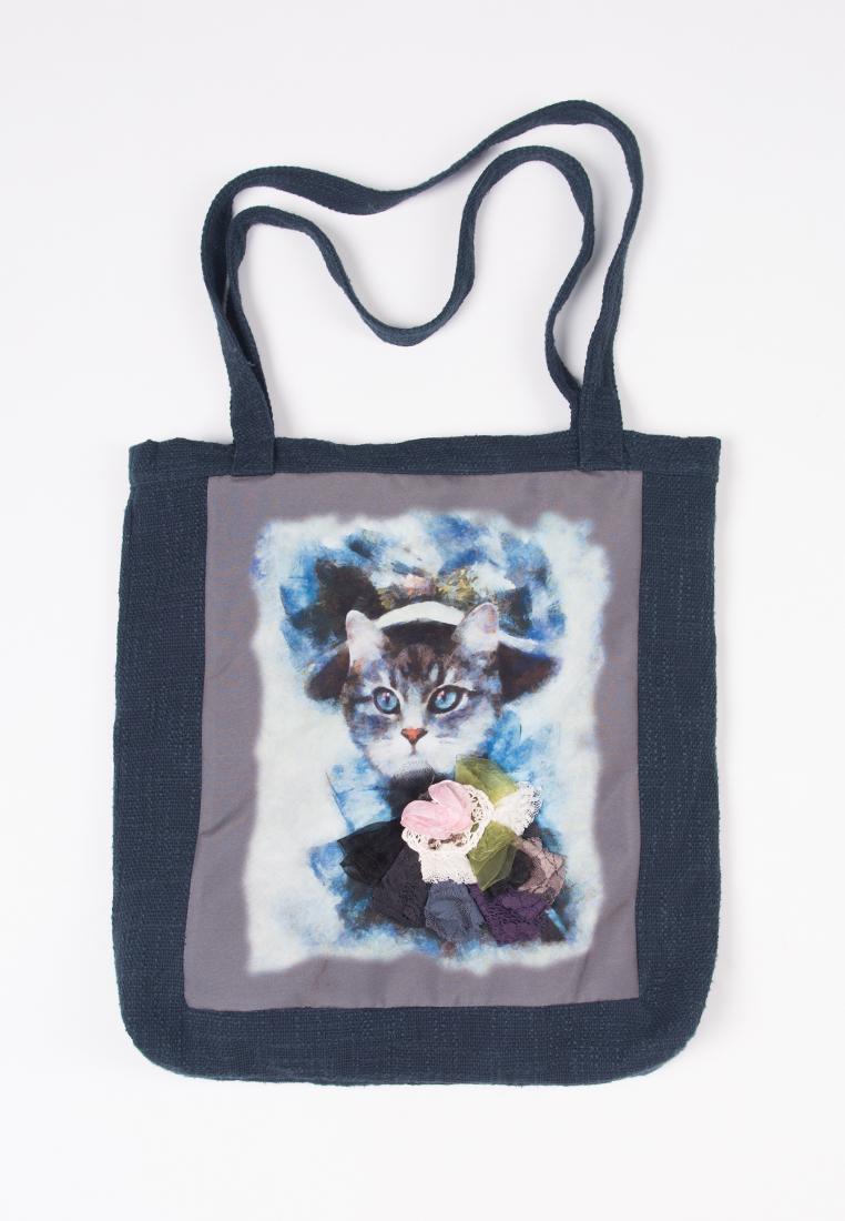 купить Шоппер Lisa Boho BAG 180920 серый,голубой по цене 2100 рублей
