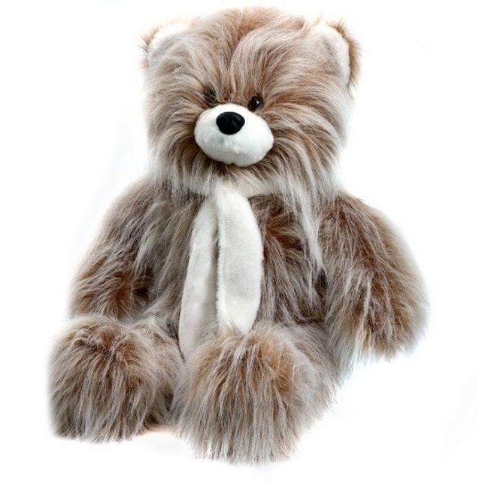 Мягкая игрушка Аймид Медведь длинноворсовой коричневый 120 см 306 коричневый