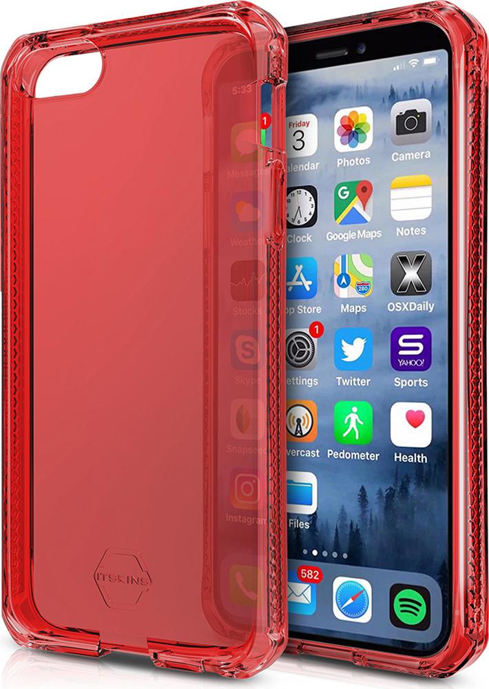 Чехол-накладка Itskins Spectrum Clear для Apple iPhone 5/5S/SE, красный аксессуар чехол накладка itskins для iphone 5 5s new phantom пленка graphic inkaa 926810541
