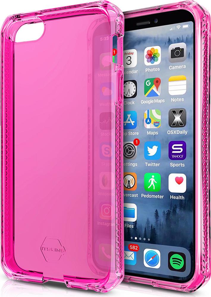 Чехол-накладка Itskins Spectrum Clear для Apple iPhone 5/5S/SE, розовый аксессуар чехол накладка itskins для iphone 5c zero 3 пленка black 572610596