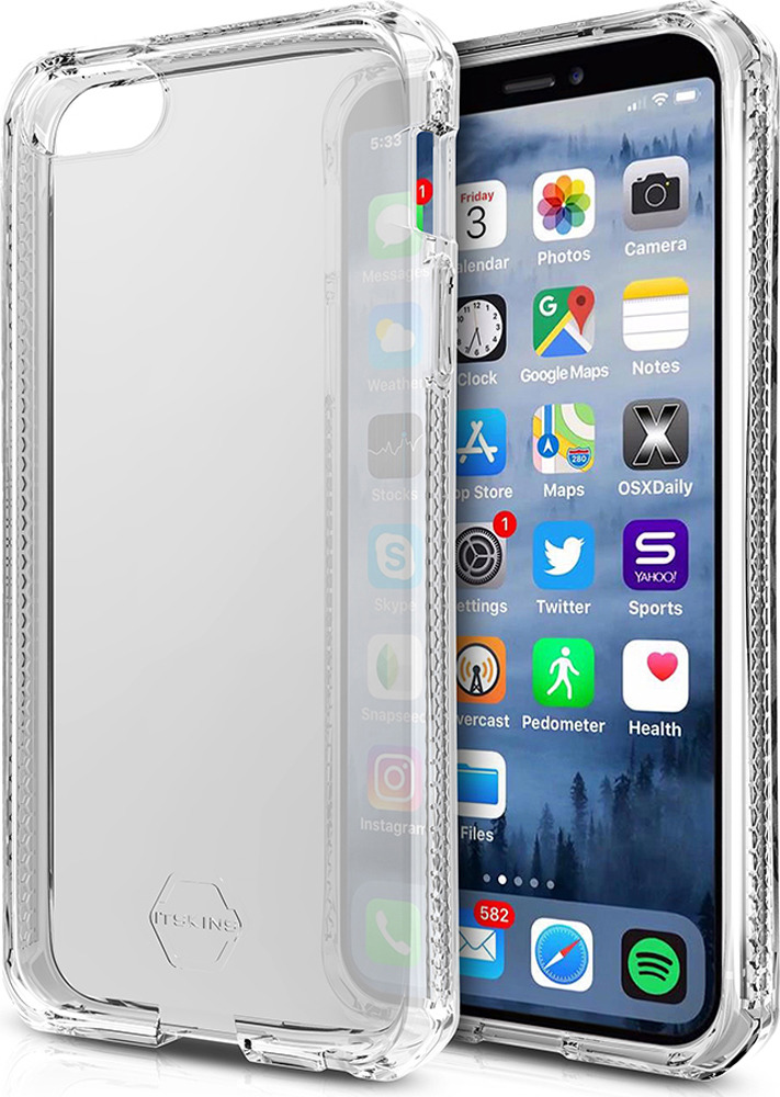 Чехол-накладка Itskins Spectrum Clear для Apple iPhone 5/5S/SE, розовый аксессуар чехол накладка itskins для iphone 5 5s new phantom пленка graphic inkaa 926810541