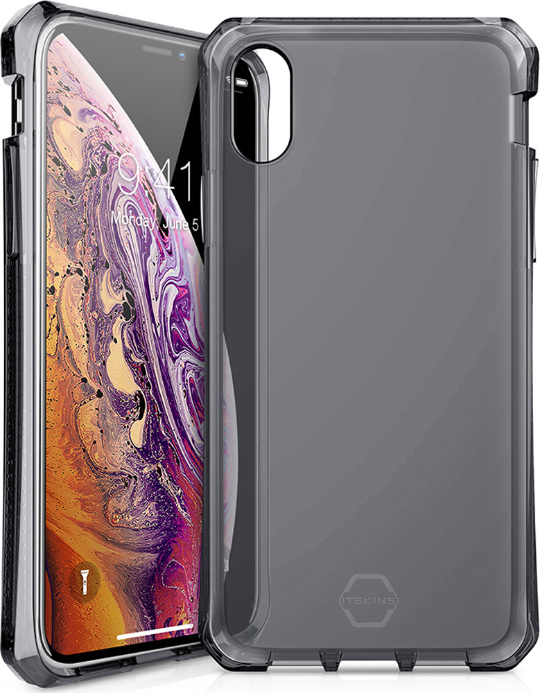Чехол-накладка Itskins Spectrum Clear для Apple iPhone XS/X, черный