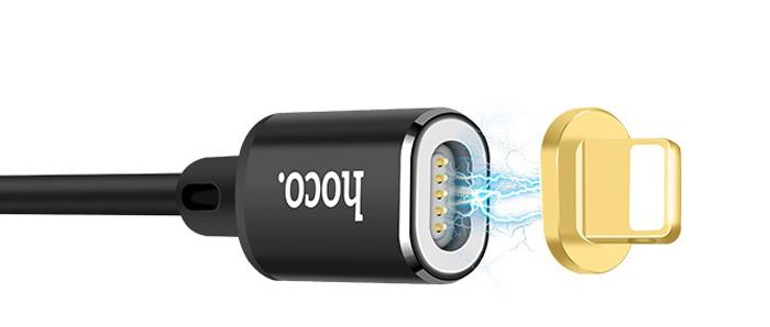 Кабель Hoco U28 Lightning магнитный, черный