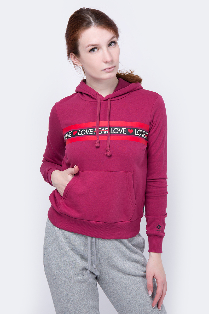 Худи Converse Love The Progress Print Hoodie худи print bar влюбленный череп