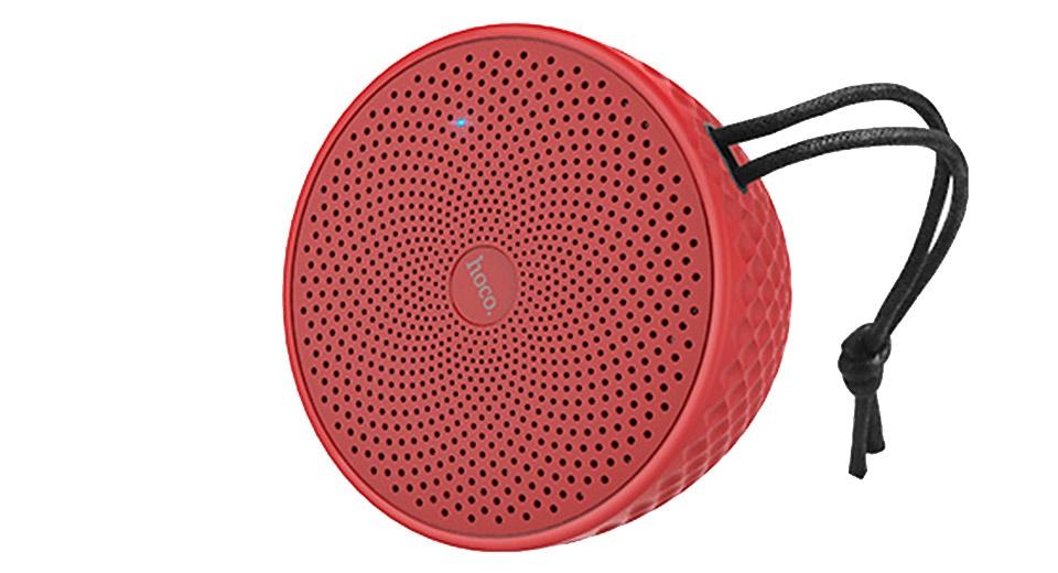 Беспроводная колонка Hoco Колонка беспроводная BS21, влагозащитная, ударопрочная, цвет красный беспроводная колонка markclub hoco tg 168 красный