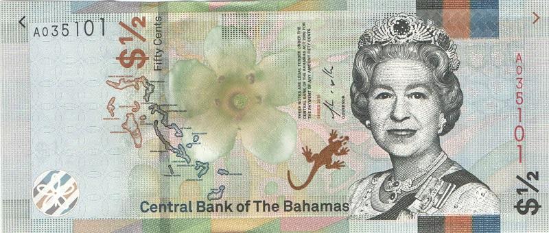 Банкнота номиналом 50 центов. Багамские острова. 2019 год у цзиншэн маленькая кисть и перо центов