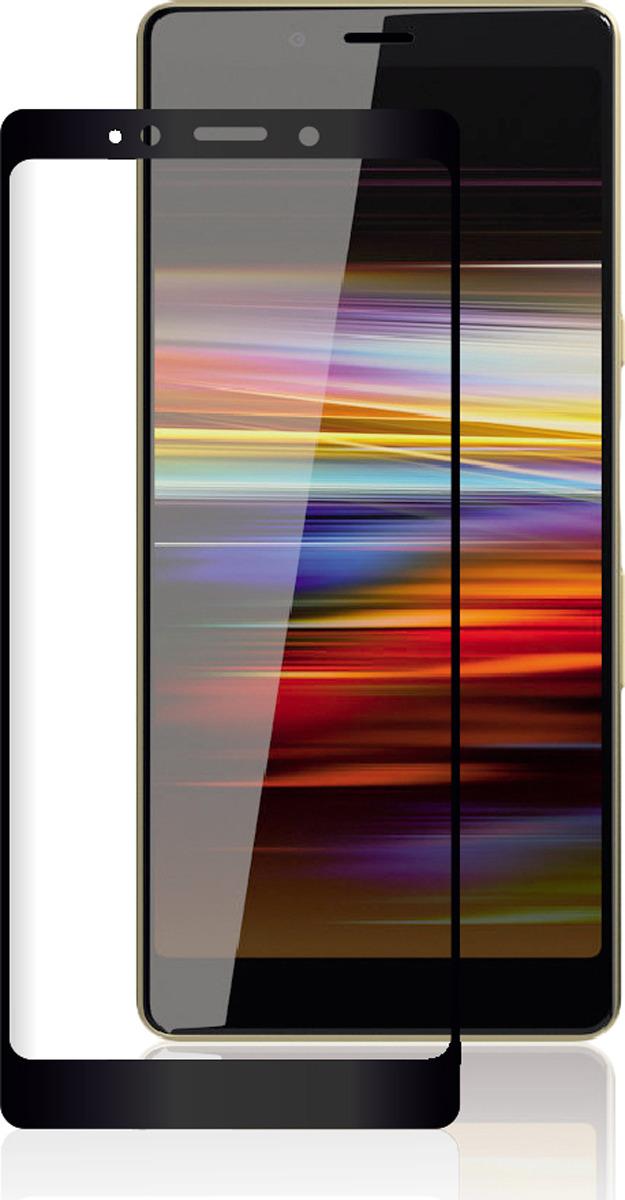 Защитное стекло Brosco 2.5D для Sony L3, черный