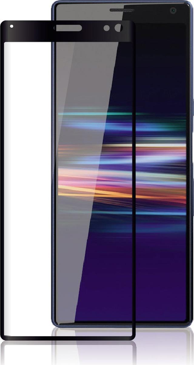 Защитное стекло Brosco 2.5D для Sony Xperia 10 Plus, черный защитное стекло для sony g3112 xperia xa1 brosco 3d на весь экран с розовой рамкой