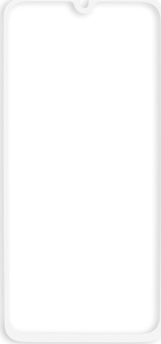 Защитное стекло Brosco 2.5D для Samsung A40, белый