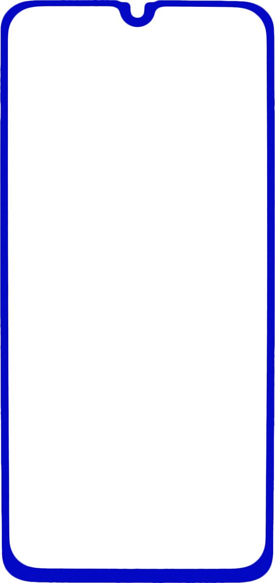 Защитное стекло Brosco 2.5D для Samsung A40, синий