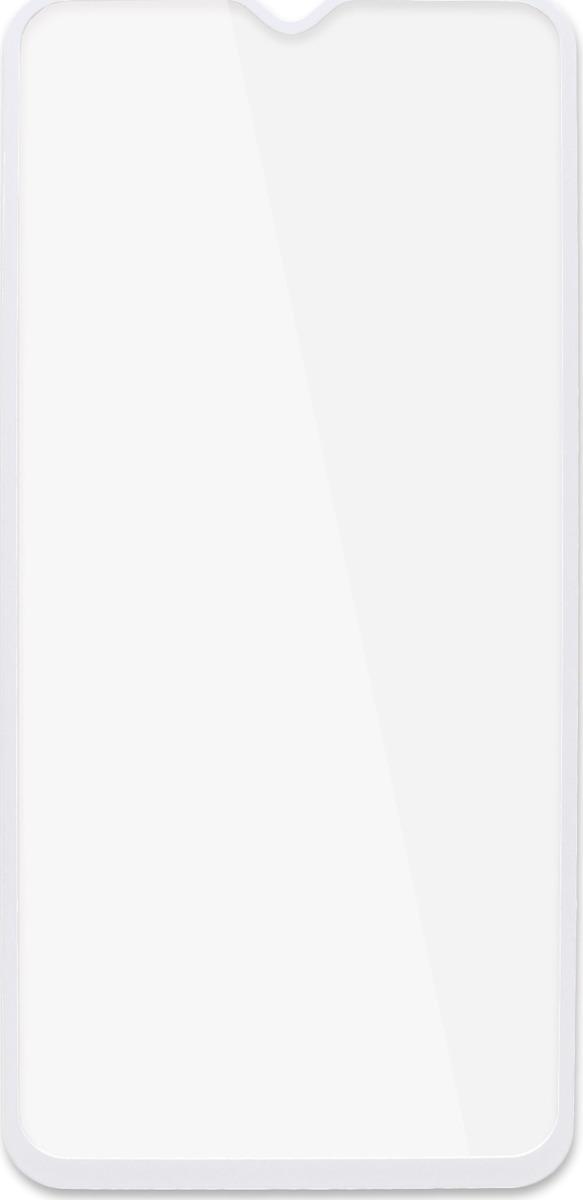 Защитное стекло Brosco 2.5D для Samsung A50, белый