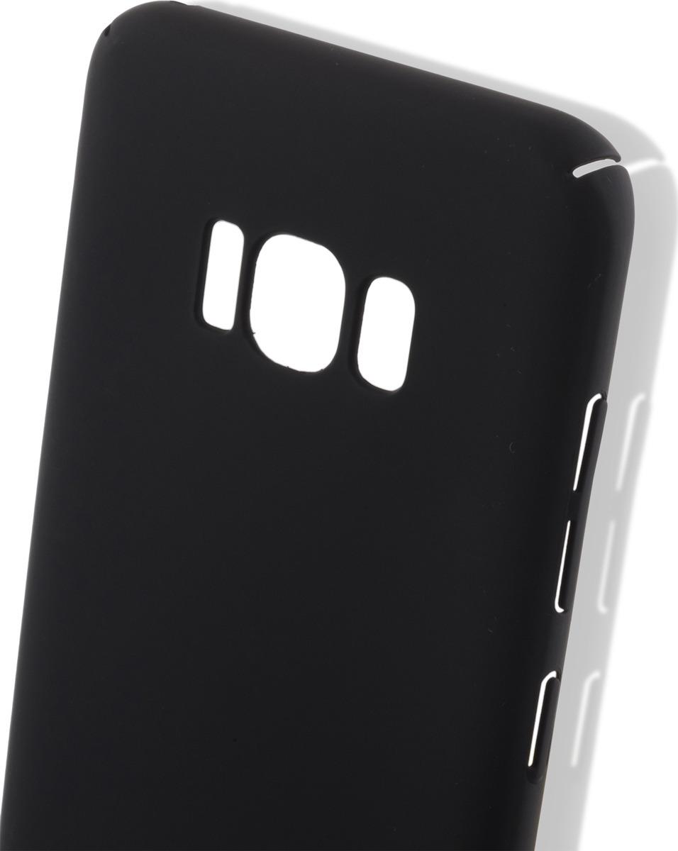 Чехол-накладка Brosco четырехсторонний Soft-touch для Samsung S8, черный цена и фото