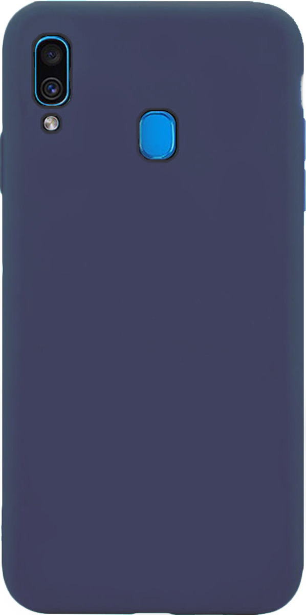 Чехол-накладка Brosco Colourful для Samsung A30, синий