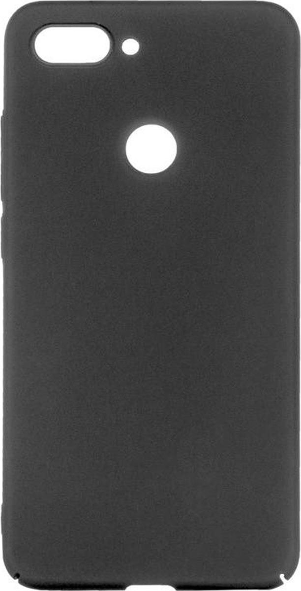 Чехол-накладка Brosco четырехсторонний Soft-touch для Xiaomi Mi 8 Lite, черный цена и фото