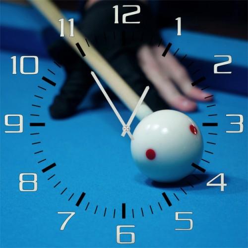 Настенные часы Kitch Clock 30016263001626Настенные часы. Механизм: Кварцевый. Корпус: Дерево. Размер: Диаметр 30 см. Рисунок: Бильярд